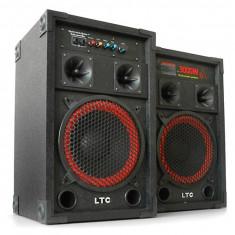 Echipament karaoke - BOXE AMPLIFICATE, SISTEM COMPLET KARAOKE 200 WATT, STICK/CARD, MICROFOANE, EFECTE.+BONUS 2 MICROFOANE PROFESIONALE.