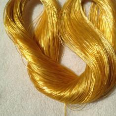 Fir de tricotat sau crosetat - matase vegetala, subtire - galben aurie