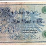 Bancnota Straine - LL bancnota Germania 100 marci 1908 ( stampila verde)