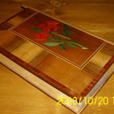 Caseta bijuterii lemn furnir - Cutie Bijuterii