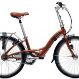 Bicicleta pliabile Dahon, 24 inch, Numar viteze: 7, Aluminiu, Caramiziu, 105 kg - Vand bicicleta pliabila dahon glide p8