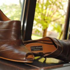 Zara, pantofi piele - Pantof dama Zara, Marime: 39, Culoare: Maro, Maro