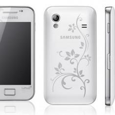Telefon mobil Samsung Galaxy Ace, Alb, Neblocat - Vand Samsung Galaxy Ace La Fleur Cu Toate Accesoriile