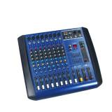 Mixer audio - MIXER PROFESIONAL AMPLIFICAT/PUTERE 380 WATT, 4 IESIRI, EFECTE DIGITALE DSP, 8 CANALE, COOLER INTELIGENT.