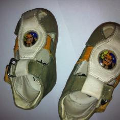 Sandale baieti, piele, superfit - Sandale copii, Marime: 18, Culoare: Camel