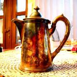Ceainic din metal - foarte vechi - patina deosebita - Metal/Fonta