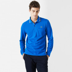 Lacoste regular fit long-sleeved polo with edging | Bluze LACOSTE - Tricou barbati Lacoste, Marime: M, Culoare: Albastru, Maneca lunga, Bumbac