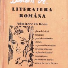 LITERATURA ROMANA PT ADMITERE IN LICEU de CARMEN IORDANESCU - Carte Teste Nationale