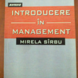 Introducere in management (Mirela Sirbu) - Carte Management