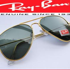 Ochelari de soare Ray Ban, Unisex, Verde, Pilot, Plastic - Ochelari RAY BAN de soare RAMA GOLD
