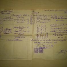 Extract din registrul starii civile emis 1951 ( rar!!!, licitatie, se vinde la pret final ) - Pasaport/Document, Romania de la 1950