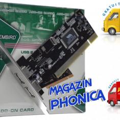 Sisteme desktop cu monitor - Placa adaptor interfata PCI cu pentru 2 porturi USB 2.0 Gembrit