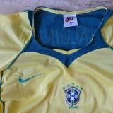 """Tricou Nike fotbal """"CBF Brasil Ronaldinho 11"""" cu plasa laterala; marime M;ca nou - Tricou barbati Nike, Marime: M, Culoare: Din imagine"""
