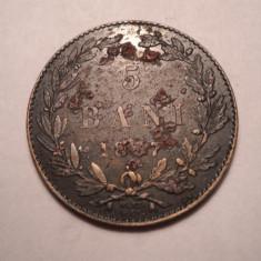 Monede Romania - 5 bani 1867 Watt