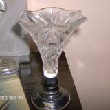 Vaza cristal talpa argint nr 2 reducere, Vas