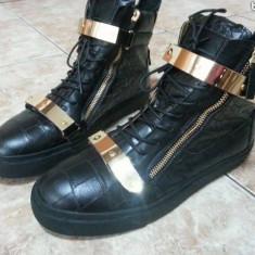 Ghete dama Giuseppe Zanotti, Marime: 40, Negru - Sneakers giuseppe zanotti fara platforma
