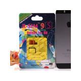 Cartela RGKNSE R-SIM 9S gen Gevey deblocare Iphone 5s iOS pana la 7.1 GSM+WCDMA+CDMA fara 112 cu tavita proprie decodare unlock