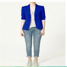 Sacou dama - Sacou albastru intens blazer ZARA WOMAN jacheta casual office slim fit nou XS24