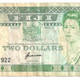 Bancnota Straine - FIJI 2 DOLARI 1995 U