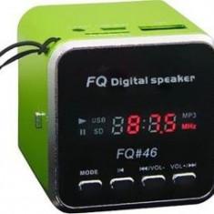 Mini difuzor portabil Cu Mp3 player si radio Fm - Slot card si USB -Model FQ-46 - Boxe Telefon