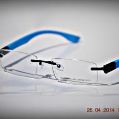 Rame de ochelari Porsche Design P8012 col4 Brate albastre, Unisex, Dreptunghiulare