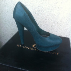 Pantofi verzi -model like Charlotte Olympia - Pantof dama, Marime: 36.5, Culoare: Verde, Verde