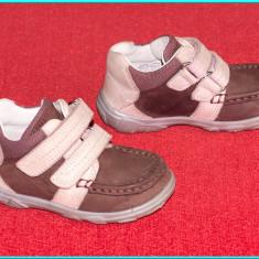 DE FIRMA _ Pantofi / ghetute scurte, din piele, comode, ELEFANTEN _ fete | nr 22 - Pantofi copii, Piele naturala