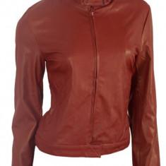 Geaca / Jacheta Piele Eco Tip Zara-Biker-Originala Interval -50% REDUCERE!! - Jacheta dama, Marime: 36, 38, 40, Culoare: Burgundy