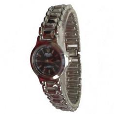 Ceas de Dama Rolex, Casual, Analog, Inox - Ceas Rolex dama negru (cutie din lemn cadou)