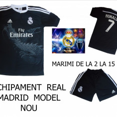 Set echipament fotbal Adidas - ECHIPAMENTE FOTBAL - COPII REAL MADRID, 2016, MARIMI 4 = 15 ANI, LIVRARE GRATUITA