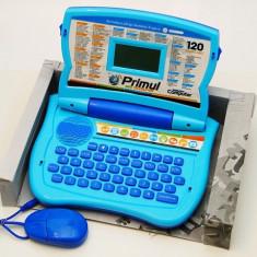 Laptop copii 120 functii, Laptop educativ bilingv romana-engleza, primul laptop, computer pentru copii Primul meu calculator, Laptop jucarie 120 funct, Altele, Baiat, Bleu