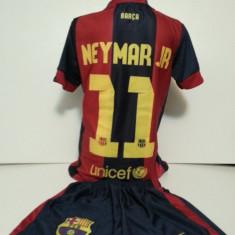 Set echipament fotbal - ECHIPAMENTE SPORTIVE COPII FC. BARCELONA NEYMAR JR COMPLEU marimea 176