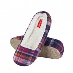 Papuci dama - Papuci de casa 43633c - carouri multicolor