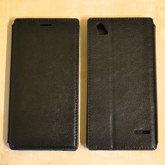 Husa ZTE Blade VEC 4G Flip Case Slim Black - Husa Telefon ZTE, Negru, Piele Ecologica, Cu clapeta, Toc