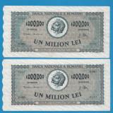 1000000 lei 1947 Serii Consecutive
