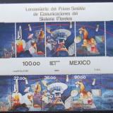 MEXIC 1985 - COSMONAUTICA 3 VALORI SI 1 M/SH, NEOBLITERATE - E1504