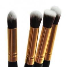 Pensule Machiaj - 4 Pensule MAANGE - Model Cu Auriu - Pensula make-up