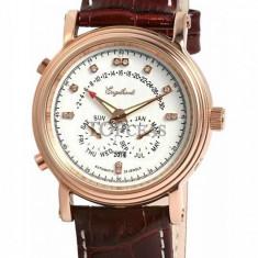Ceas de lux Engelhardt Marcus Diamond Rose Gold White, original, nou, cu factura si garantie! - Ceas barbatesc Engelhardt, Mecanic-Automatic
