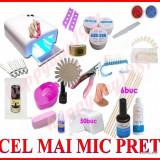 Kit set Unghii false BeautyUkCosmetics manichiura, scipici, primer, lampa uv, geluri constructie