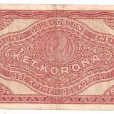 Bancnota Straine, Europa - UNGARIA 2 KOROANE 1920 U