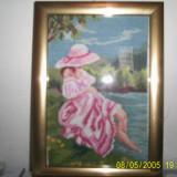Goblen - Fata la malul marii