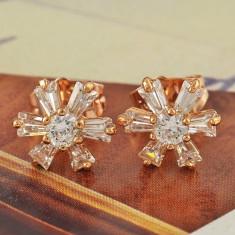 Set bijuterii placate cu aur - CERCEI 16*10mm aur filat galben