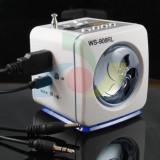 Boxa MP3 BoomBox WS-908RL | MP3 player | FM radio | MP3 play USB flash drive | SD MMC card | Portabila | Antena telescopica | NOU
