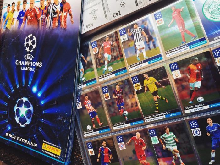 Lot 80 cartonase fotbalisti - Panini - Uefa Champions League - OFFICIAL STICKER ALBUM  2013 - 2014 foto mare