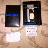 Ceas CASIO auriu, purtat - Ceas barbatesc Casio, Elegant, Quartz, Metal necunoscut, Analog