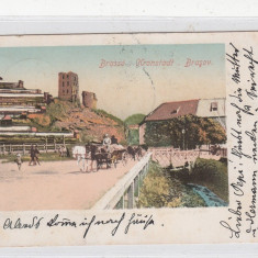 Carti Postale Romania dupa 1918 - B76693 Romani Brasov Kronstadt Brasso 1900 Caleasca