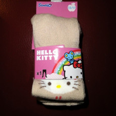 Haine Copii 0 - 6 luni, Lenjerie - Noi! Strampi bej cu Hello Kitty, fete marimea 15-17
