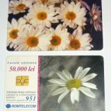 Cartela telefonica - FLORI - FLOARE - NATURA - 2001  - 2+1 gratis pt produse la pret fix - RBK4314