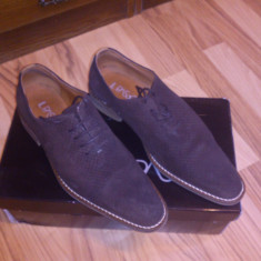 211 ron OFERTA!!! Pantofi IL PASSO barbat, piele intoarsa, maro, cutie si accesorii, pret usor negociabil - Pantofi barbati, Marime: 40