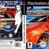 Joc original Need For Speed Underground pentru consola PlayStation2 PS2 - Jocuri PS2 Ea Games, Curse auto-moto, Toate varstele, Multiplayer